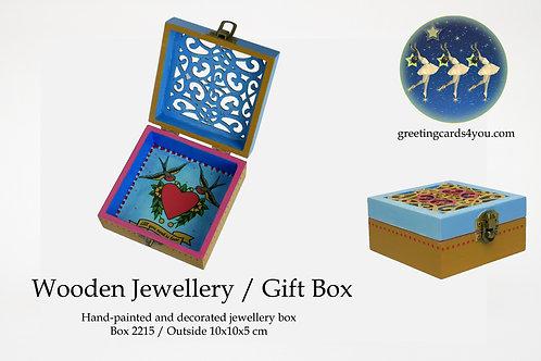 Wooden Memento/Jewellery Box - 2215