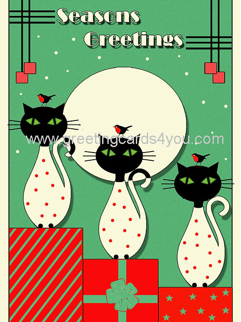 5720160035x - Green Little Kitties