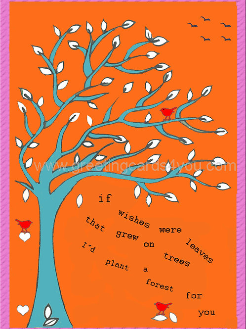 5720130041 - Wishes were leaves (orange)