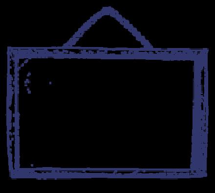 Sketched Notice Board