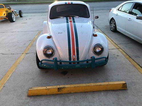 1966 VW Bug Miami Dolphin Theme