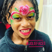 rose flower face painting