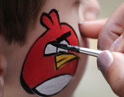 angry bird face painting