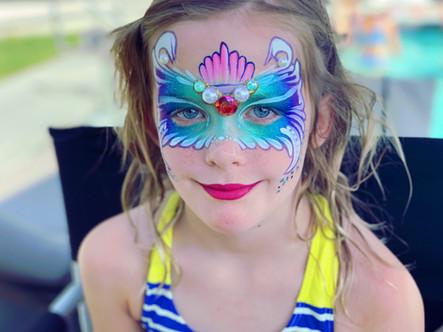 Mermaid mask face painting