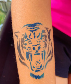 tiger airbrush tattoos