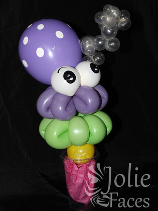 Octopus balloon candy cup