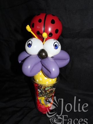 ladybug balloon candy cup