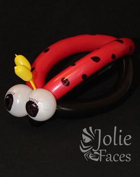 ladybug hat balloon twisting