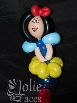 princess balloon candy cup