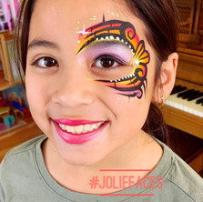 tribal eye face painting