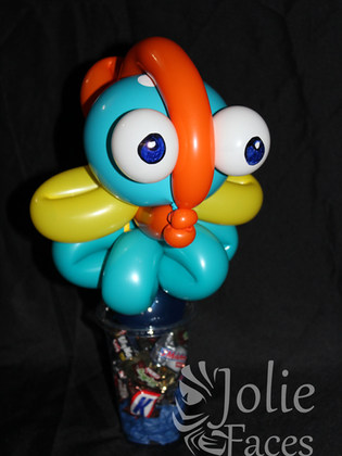 fish balloon candy cup