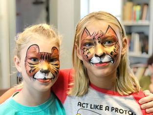 tiger & cheetah face painting