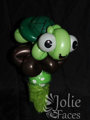 turtle balloon candy cup