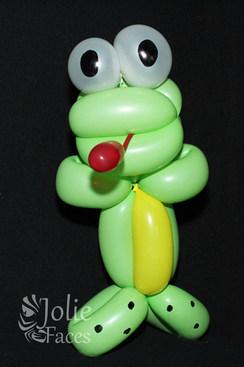 frog balloon design