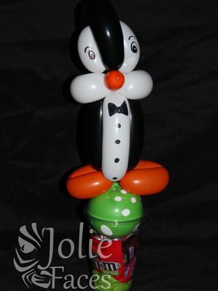 penguin balloon candy cup