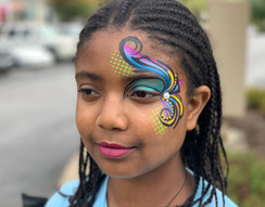 eye swirl face painting