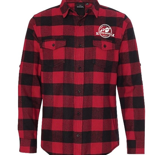 Flannel Plaid shirt with Embroidered logo