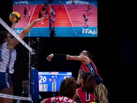 Las Reinas del Caribe vencen a Serbia; criollas luchan por ir a semifinal de la Liga de Naciones