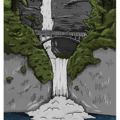 Tourist Falls in Color
