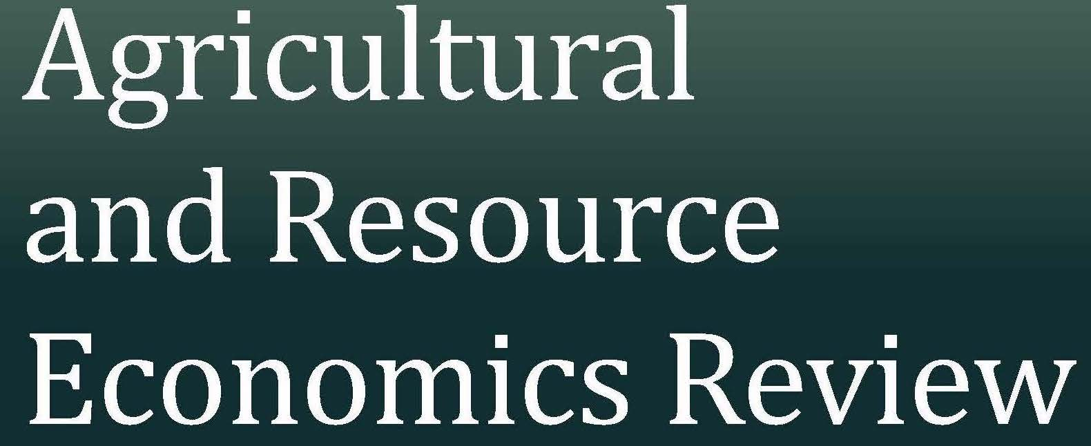 Agricultural and Resource Economics Review Special Issue