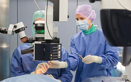 Laserbehandlung bei Netzhausriss/-loch, Vista Alpina Augenzentrum
