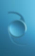 Weisse IOL Linse vor blauem Hintergrund, Vista Alpina Augenklinik
