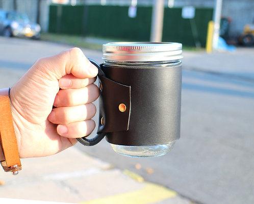 Leather Mason Jar Sleeve
