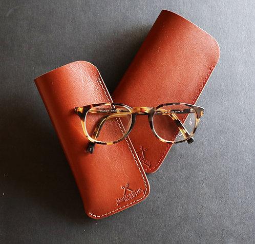 British Tan Leather Glasses sleeve