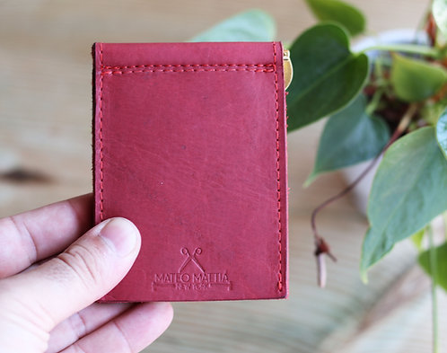 Red Money Clip Wallet