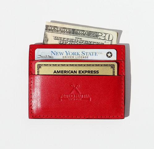 Card Wallet - Red Vegetable tan