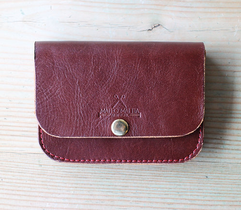 Womens Leather accordion wallet small