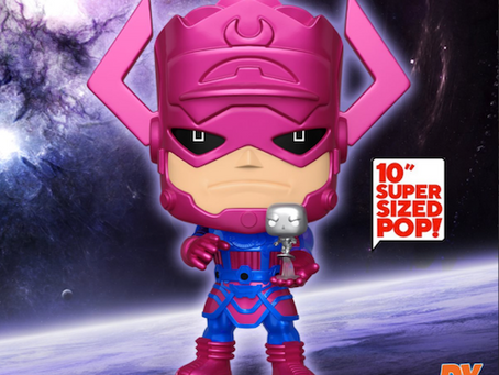 New Funko Pop figures include 10-inch tall Galactus with Silver Surfer, coming this summer!