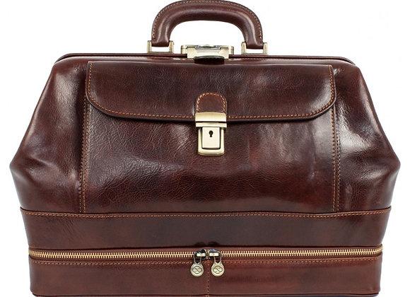Rudas odinis didelis gydytojo krepšys - Master & Margarita