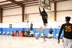 Storm SF, Evan Murray catching some hang time during warm ups!