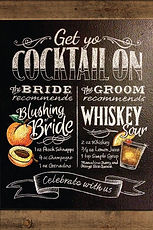 Bride and Groom Cocktail Menu