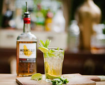 Rum bottle and Mojito