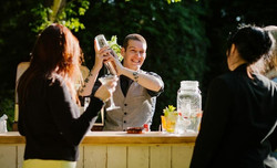 Private Bartender Entertains Guests