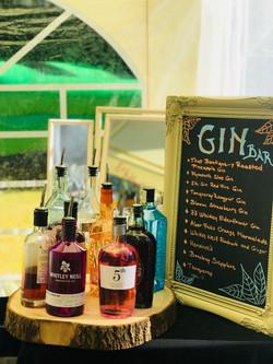 Gin Bar Menu