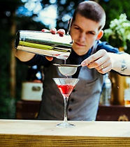 Bartender Strains Cocktail