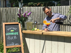 Bartender Mixes Cocktail