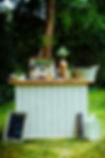 Vintage Cocktail Bar in Garden