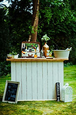 Vintage Cocktail Bar in Garden