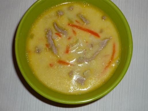 Thai zöldségleves sertéshússal