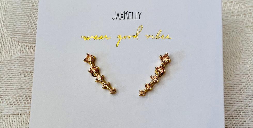 """I Dazzle"" Champagne Star Earrings"