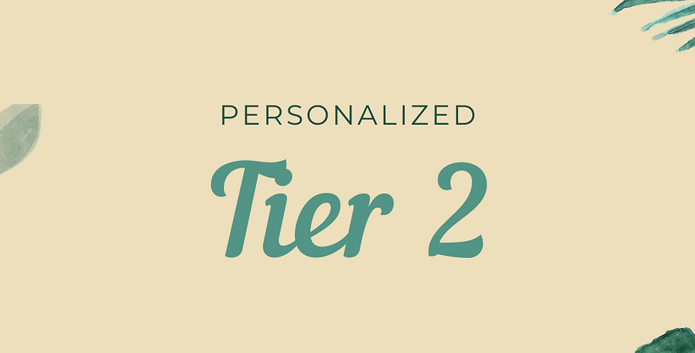 Personalized Tier 2