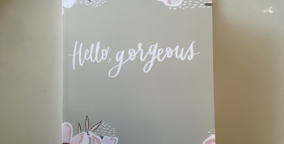 """Hello Gorgeous"" Bullet Journal"