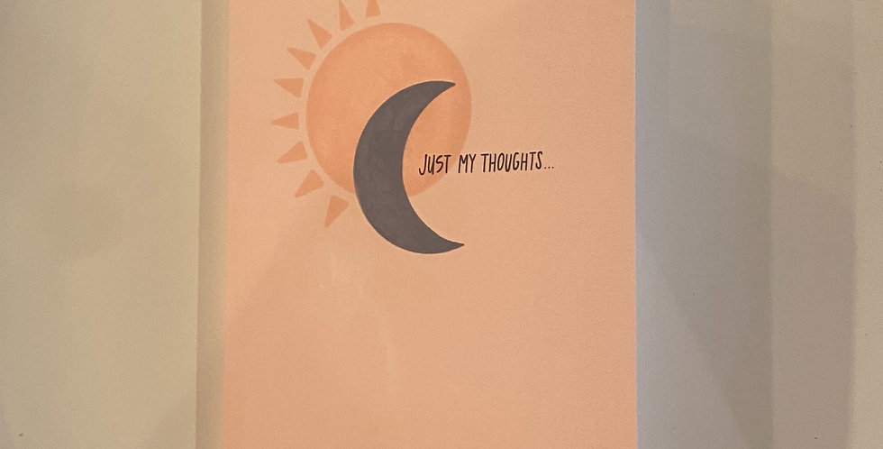 """""""Just My Thoughts"""" Sun & Moon Journal: Pink"""
