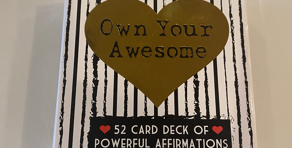 """""""Own Your Awesome"""" Affirmations Deck"""