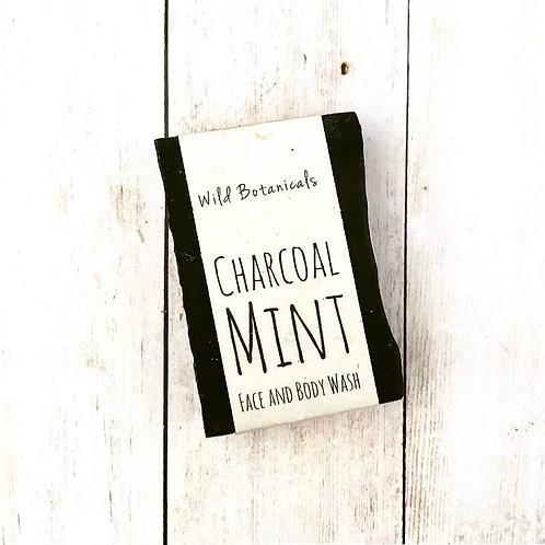 Charcoal Mint Wild Botanicals Soap