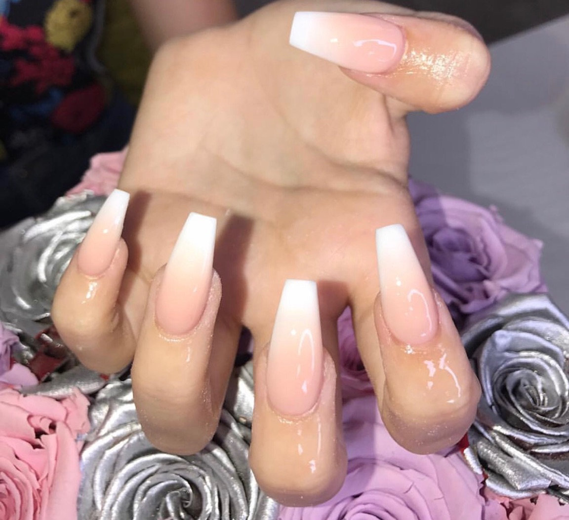 Acrylic Extensions With ombré